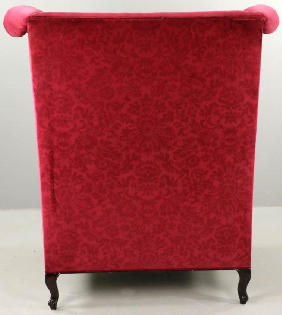 Contemporary Designer Velvet Wing Chair - 6