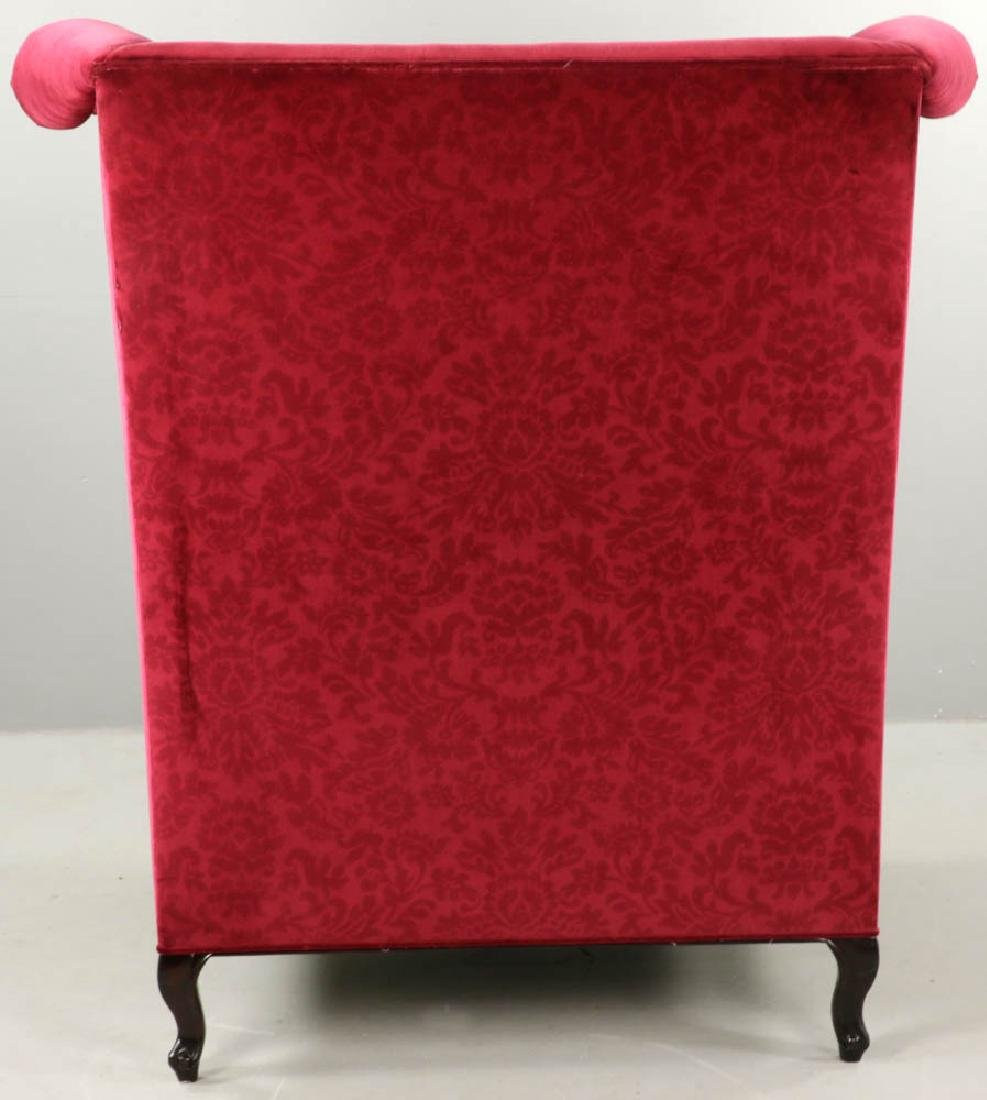 Contemporary Designer Velvet Wing Chair - 6