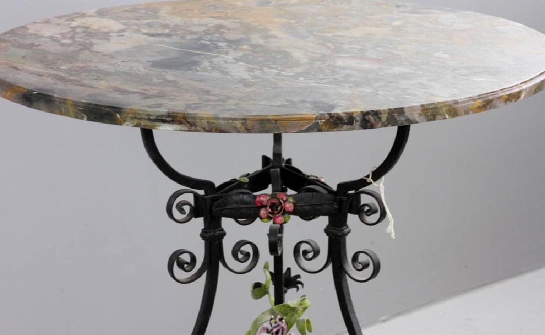 Antique French Marble Top Table - 5