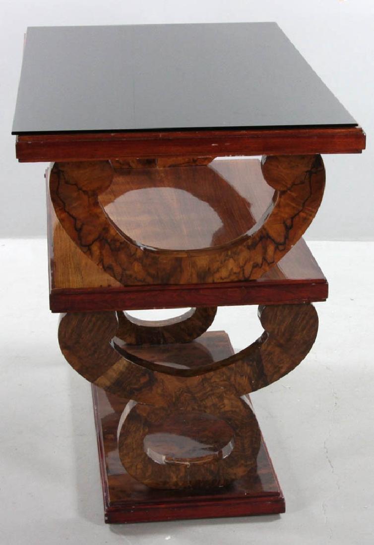 Vintage Deco Mahogany Triple Tier Table - 2