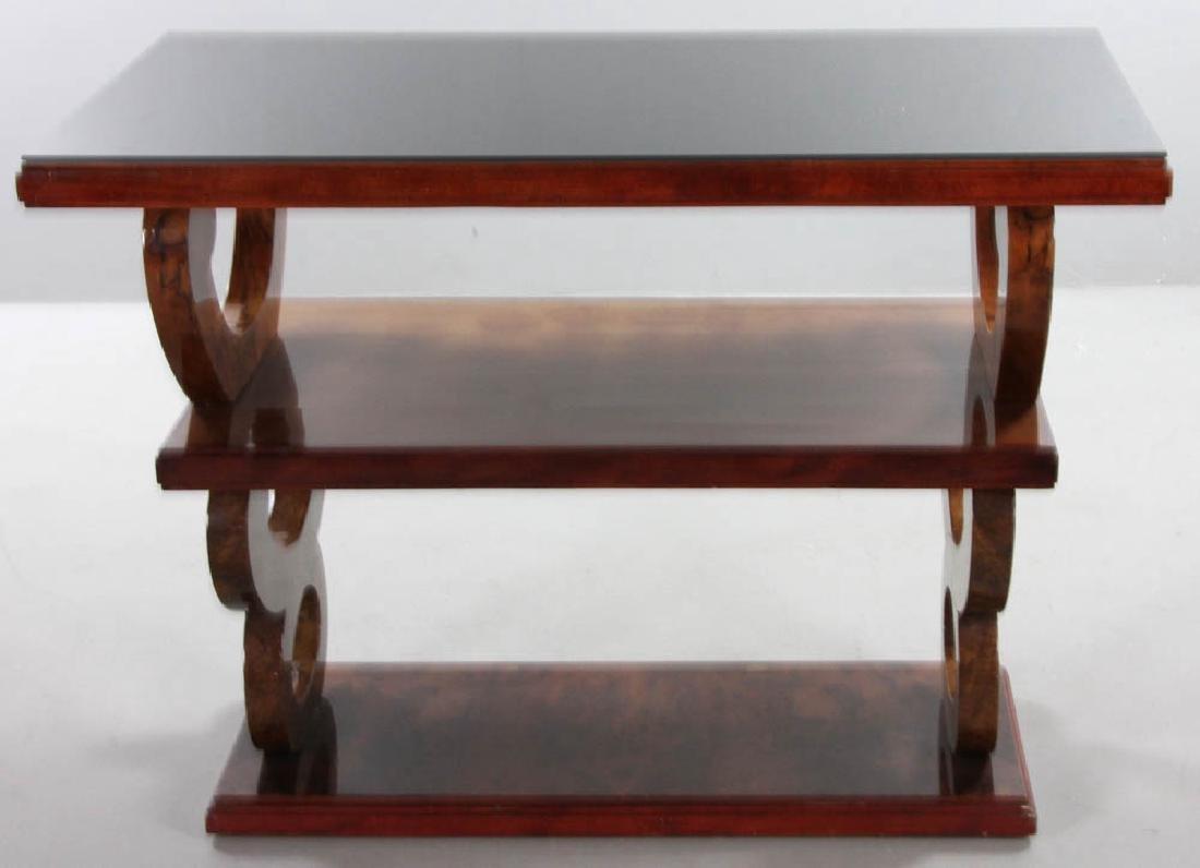 Vintage Deco Mahogany Triple Tier Table - 4