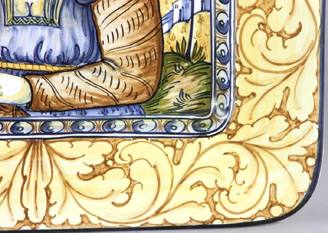 Italian Saca Castelli Pottery Wall Charger - 3