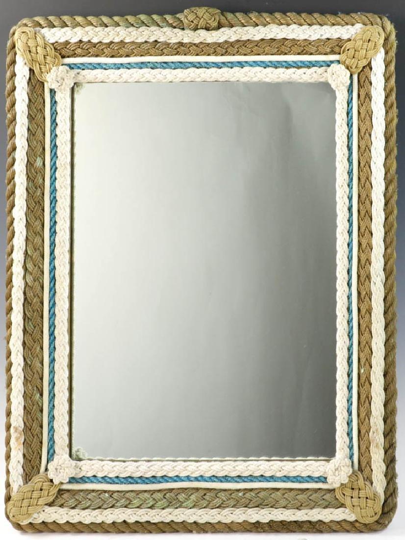 Vintage Nautical Rope Framed Mirror