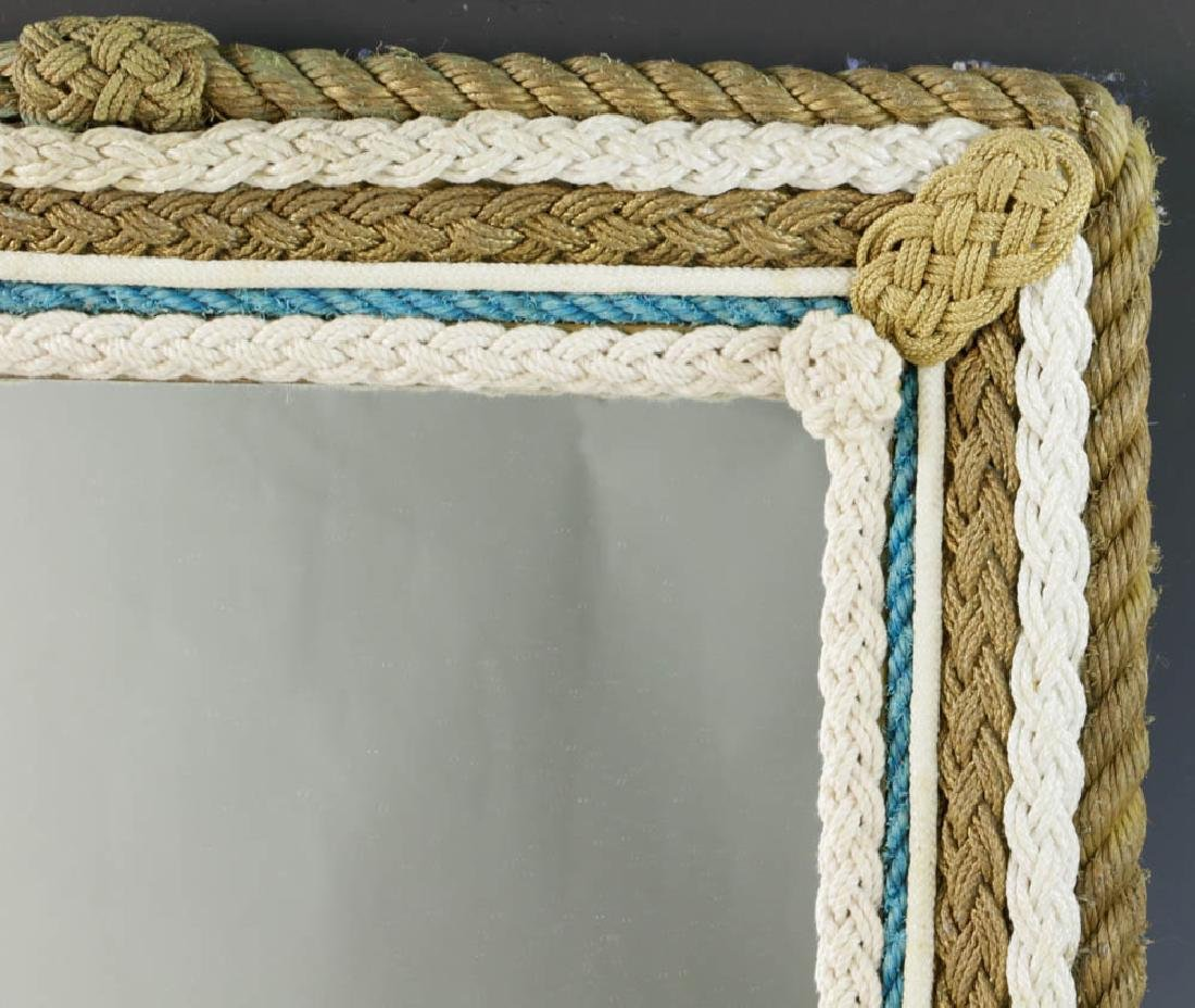 Vintage Nautical Rope Framed Mirror - 2