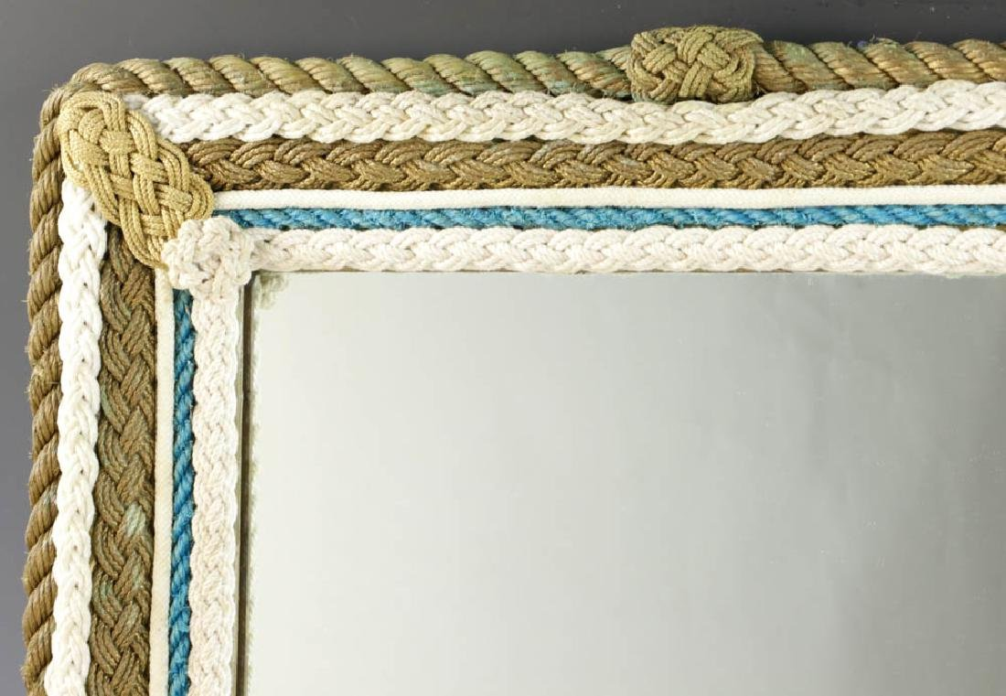 Vintage Nautical Rope Framed Mirror - 3