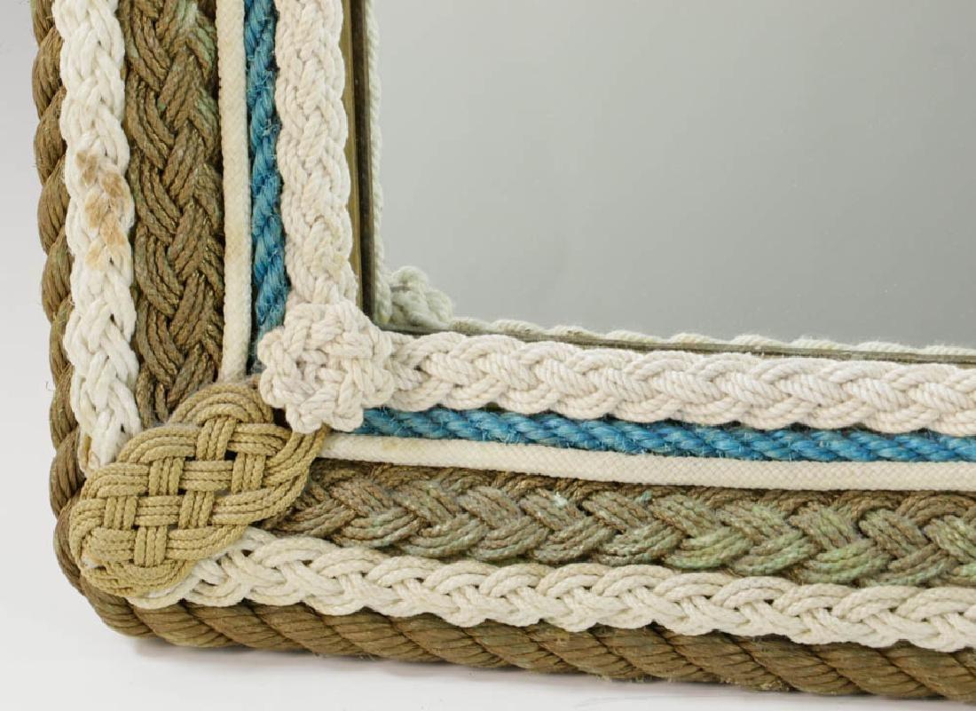 Vintage Nautical Rope Framed Mirror - 4