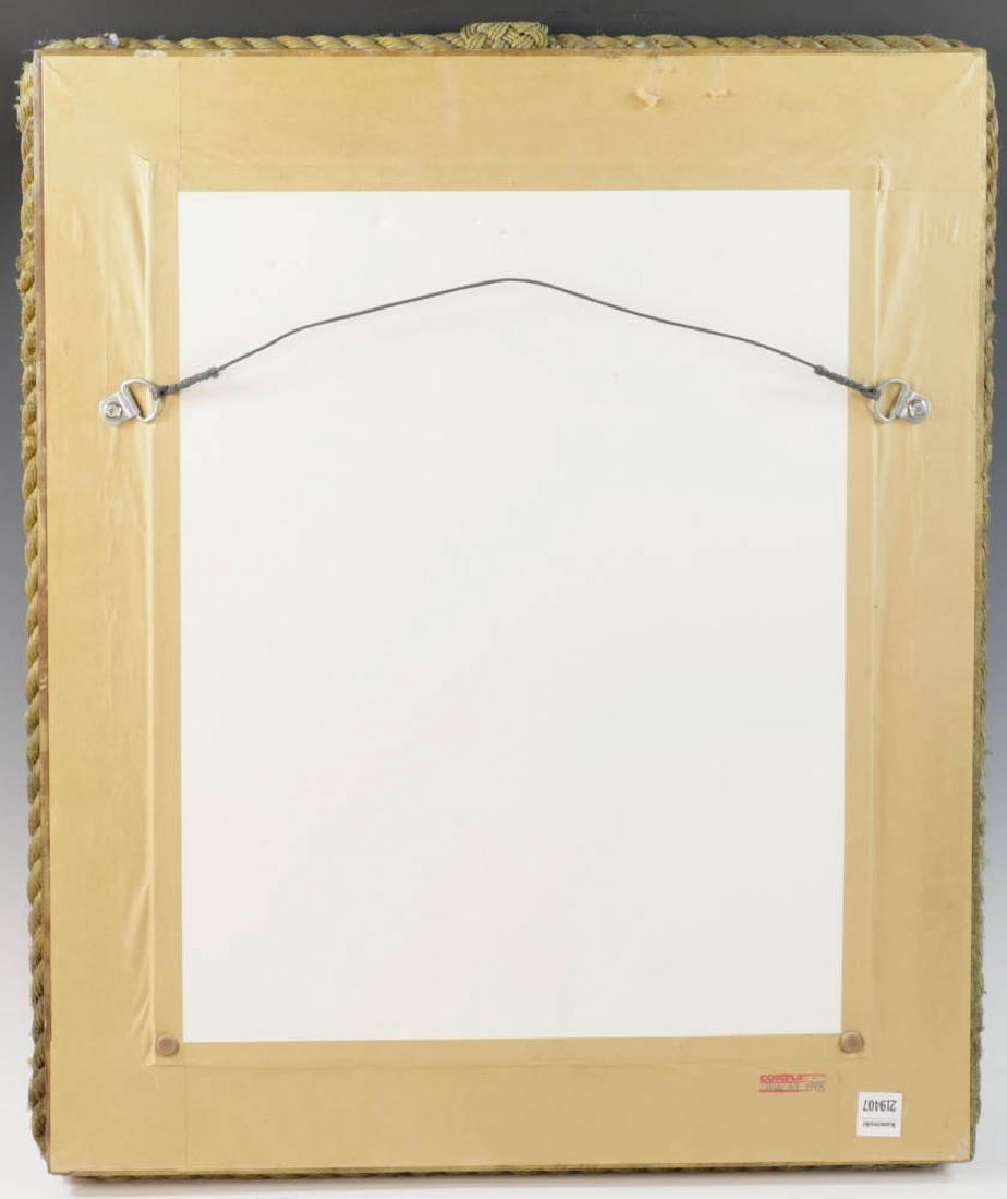 Vintage Nautical Rope Framed Mirror - 5