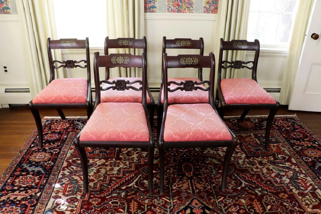 Set of (6) C1820 Empire Mahogany Dining Chairs