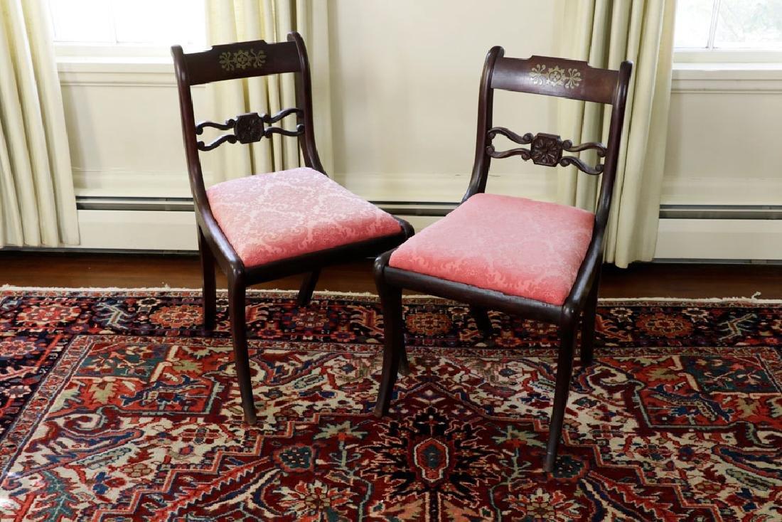 Set of (6) C1820 Empire Mahogany Dining Chairs - 2