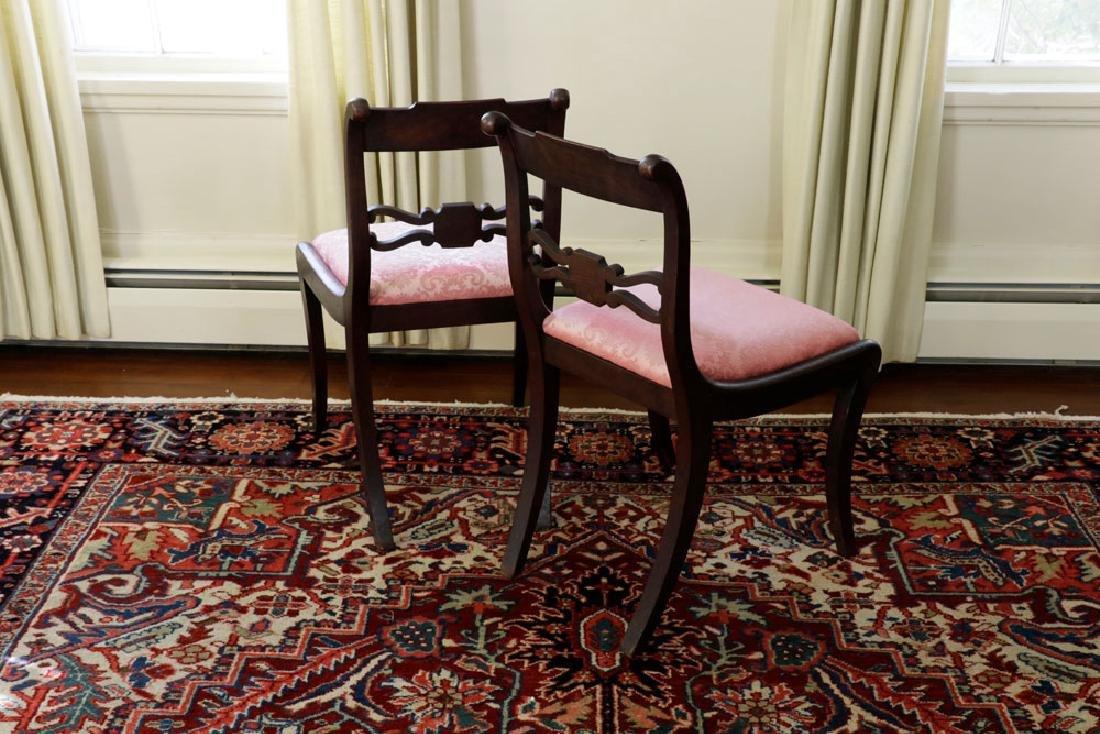 Set of (6) C1820 Empire Mahogany Dining Chairs - 3
