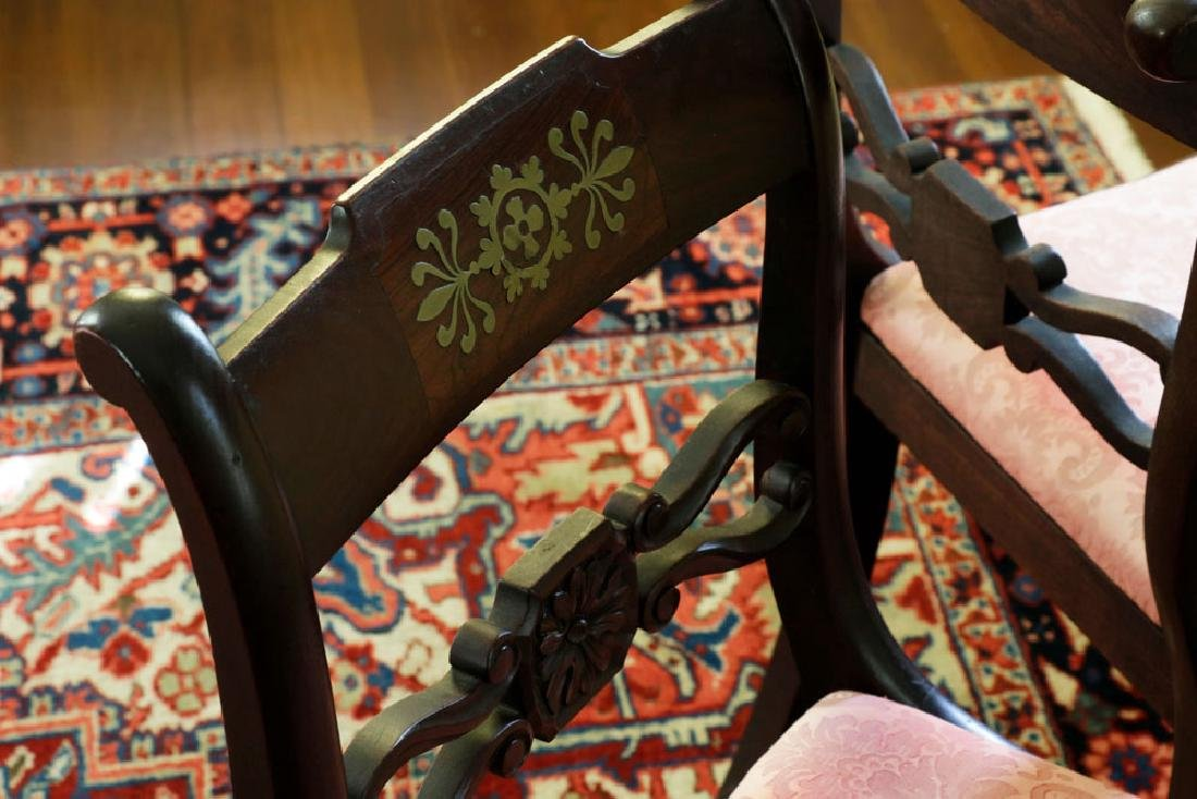 Set of (6) C1820 Empire Mahogany Dining Chairs - 4