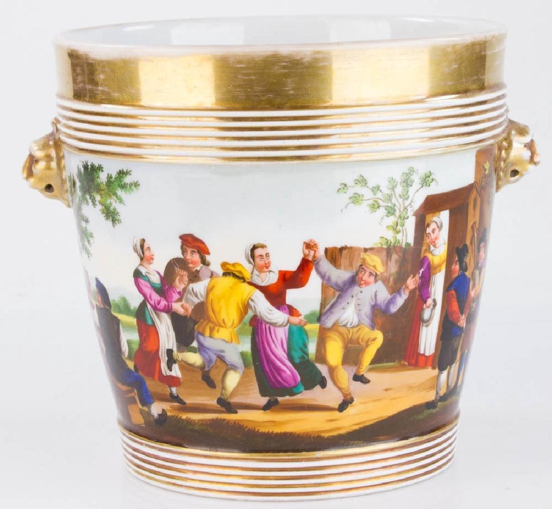 19th C. Paris Porcelain Casse Maillard Cachepot