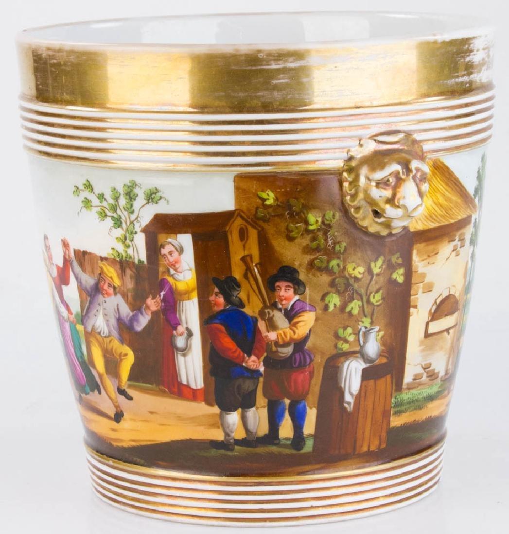 19th C. Paris Porcelain Casse Maillard Cachepot - 2
