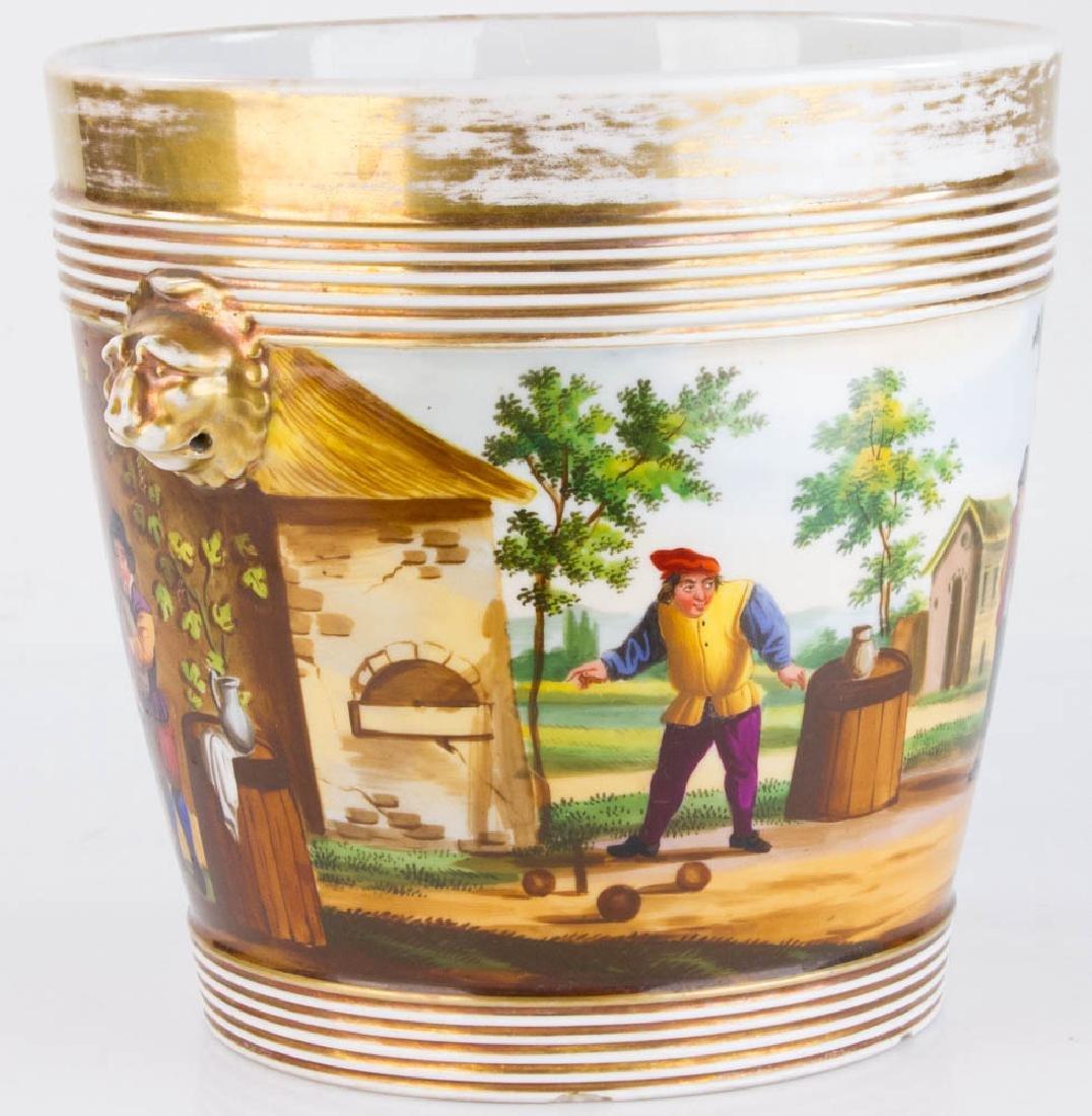 19th C. Paris Porcelain Casse Maillard Cachepot - 3