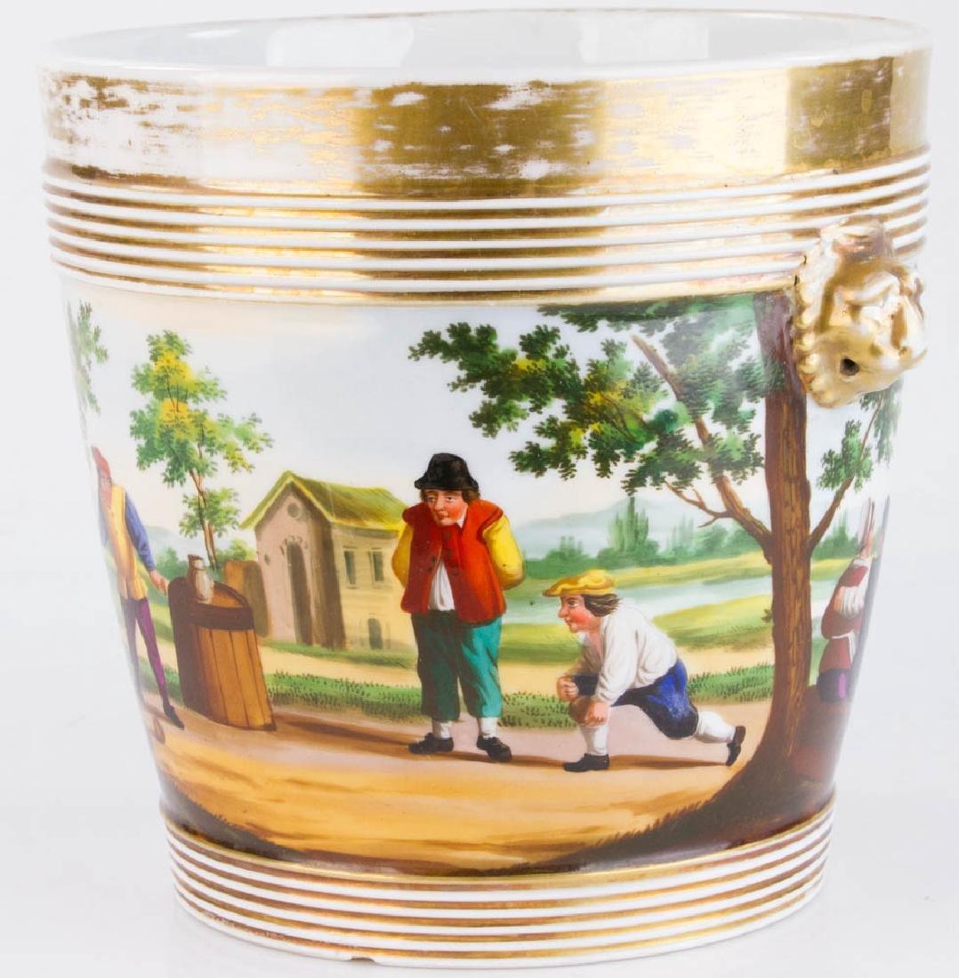 19th C. Paris Porcelain Casse Maillard Cachepot - 4