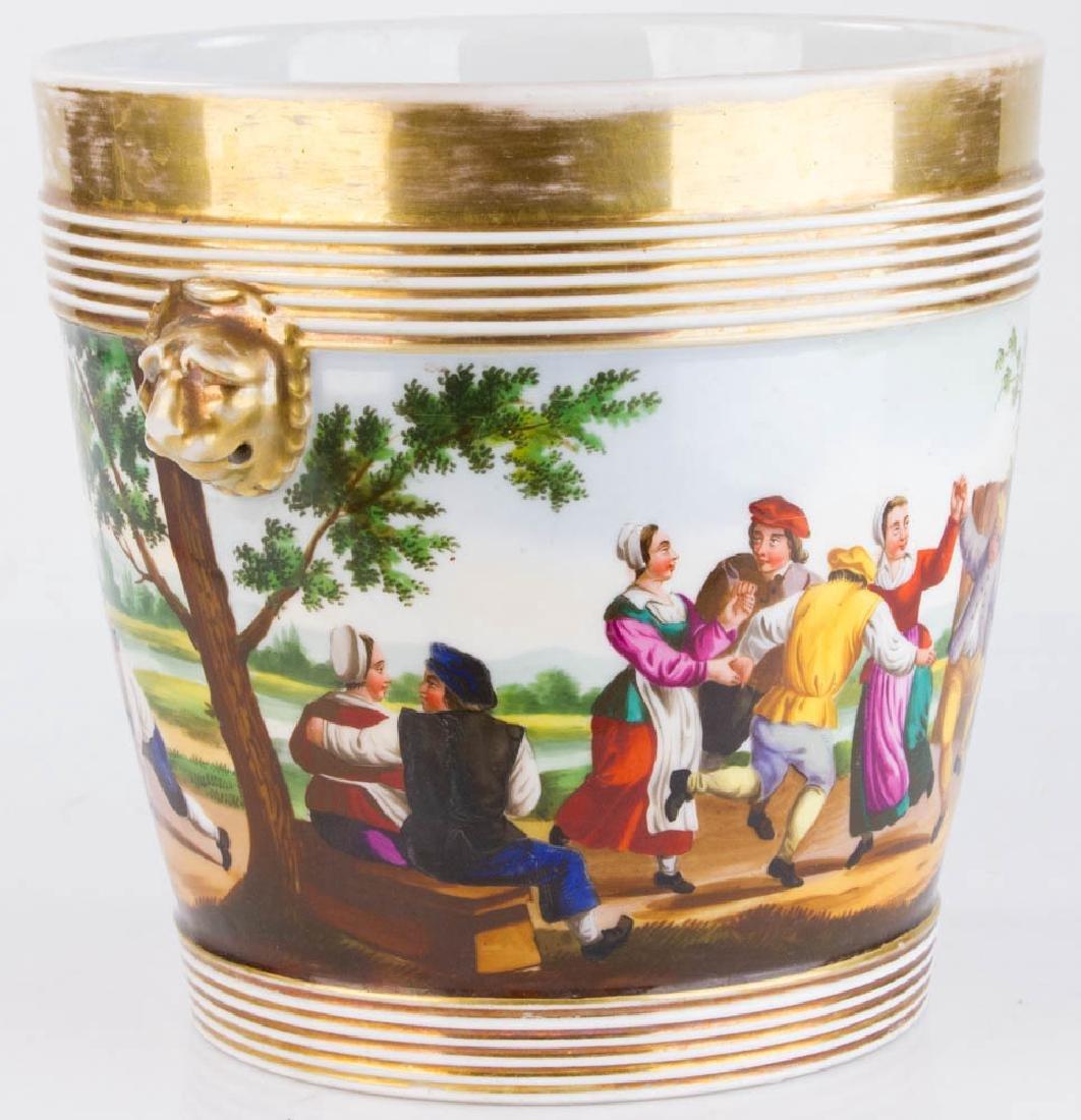 19th C. Paris Porcelain Casse Maillard Cachepot - 5