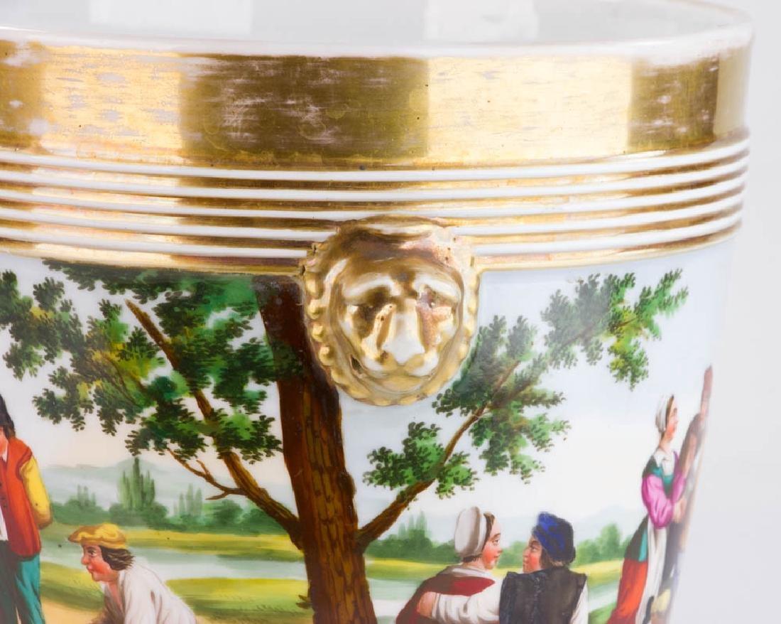 19th C. Paris Porcelain Casse Maillard Cachepot - 6