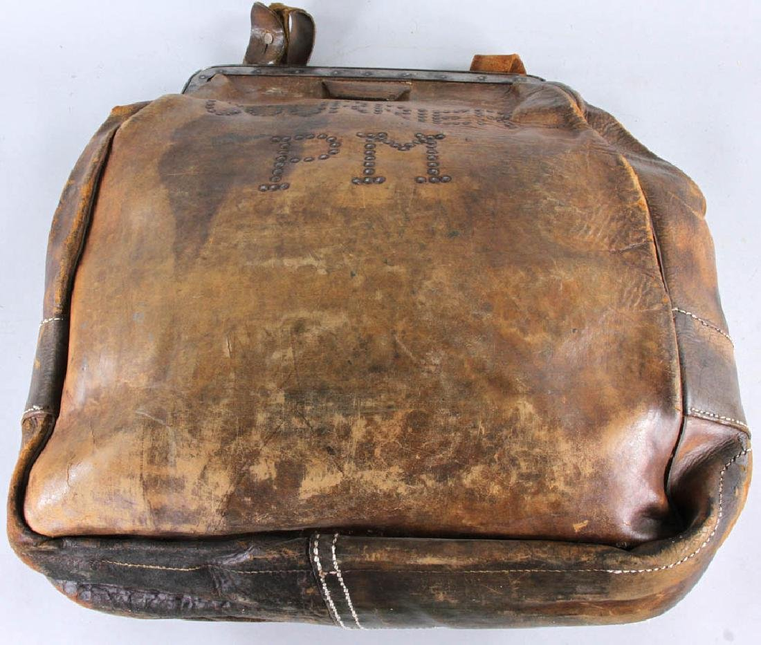 Antique Leather Couriers Bag - 2