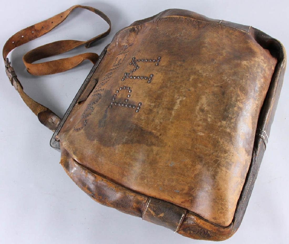 Antique Leather Couriers Bag - 3