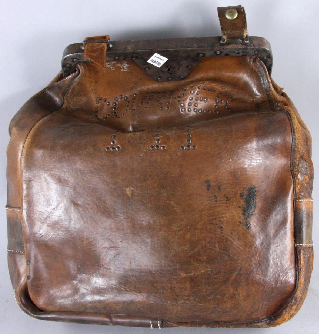 Antique Leather Couriers Bag - 4