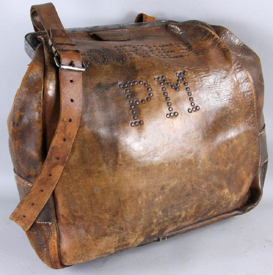 Antique Leather Couriers Bag - 5