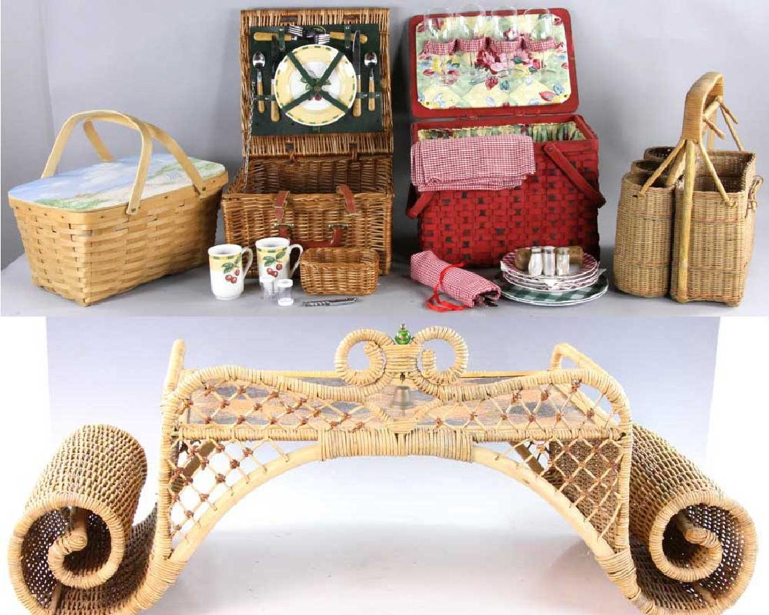 Picnic Basket and Trays