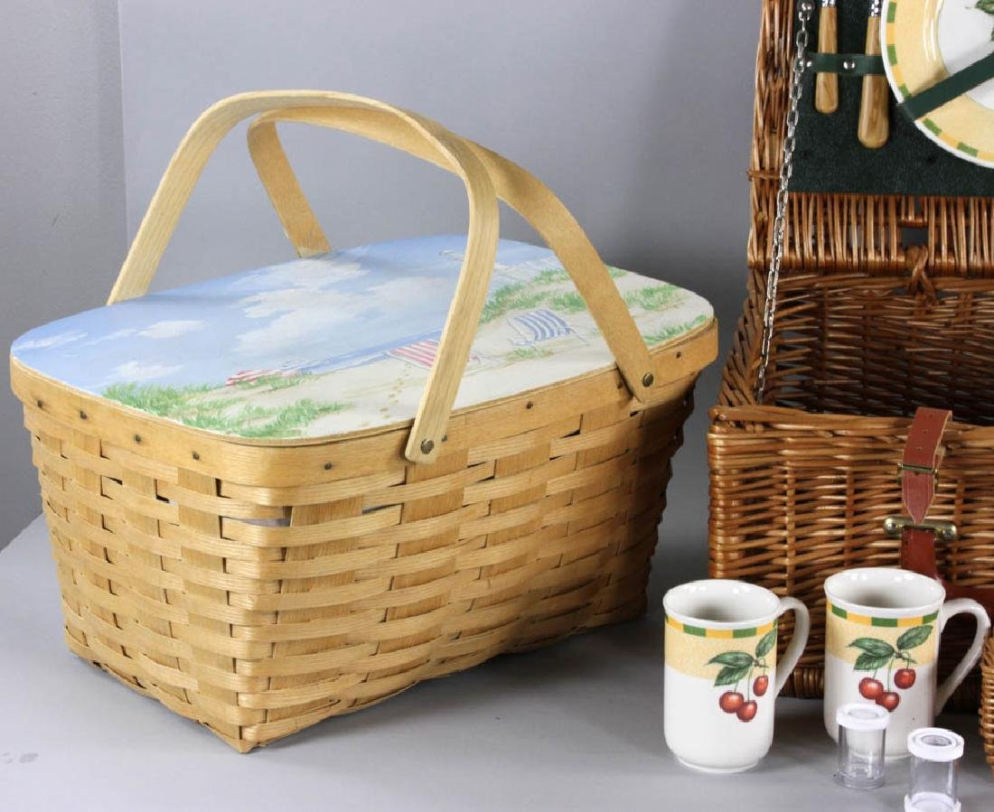 Picnic Basket and Trays - 2
