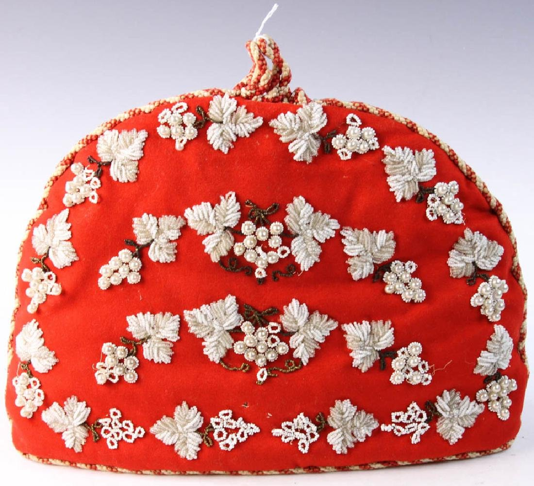 Antique Glass Bead Tea Cozy - 3