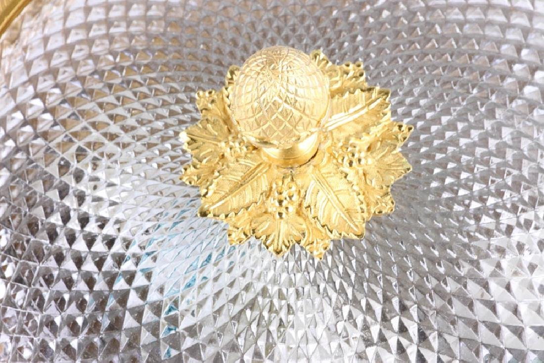 Sherle Wagner Bronze and Glass Ceiling Fixture - 3