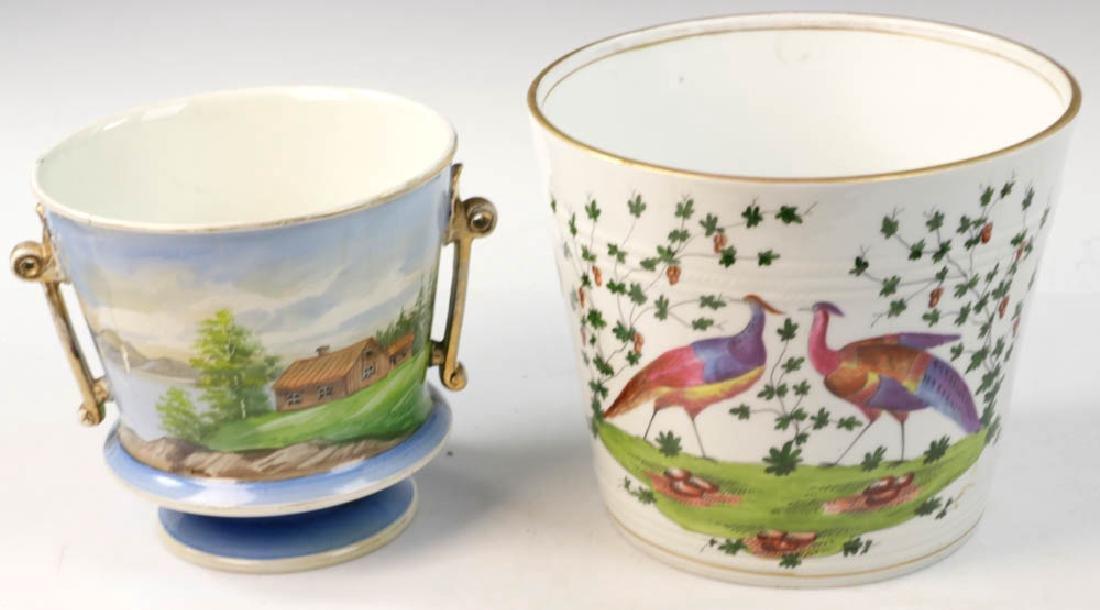 Two 19th C. Continental Porcelain Cachepots