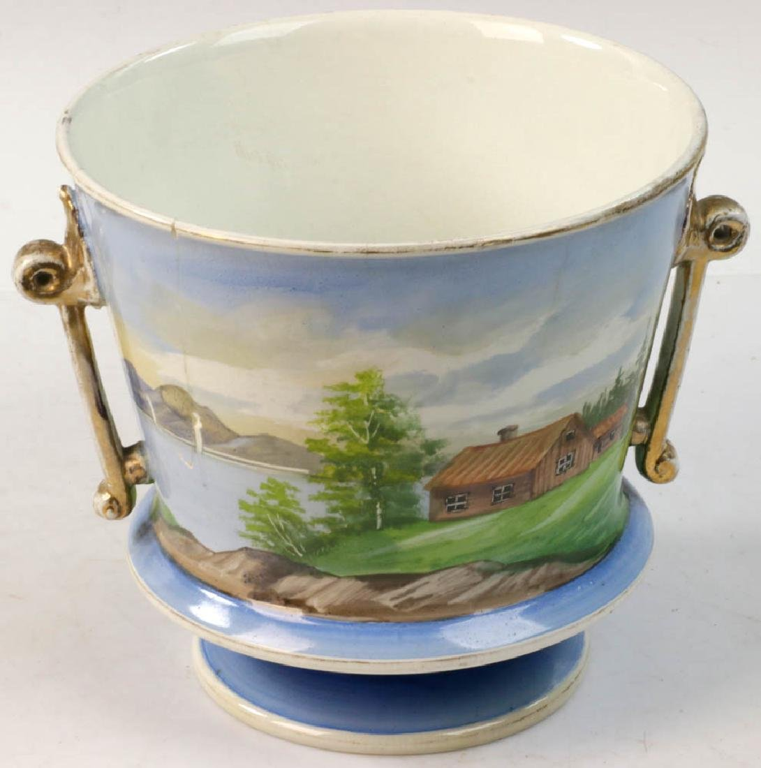 Two 19th C. Continental Porcelain Cachepots - 5