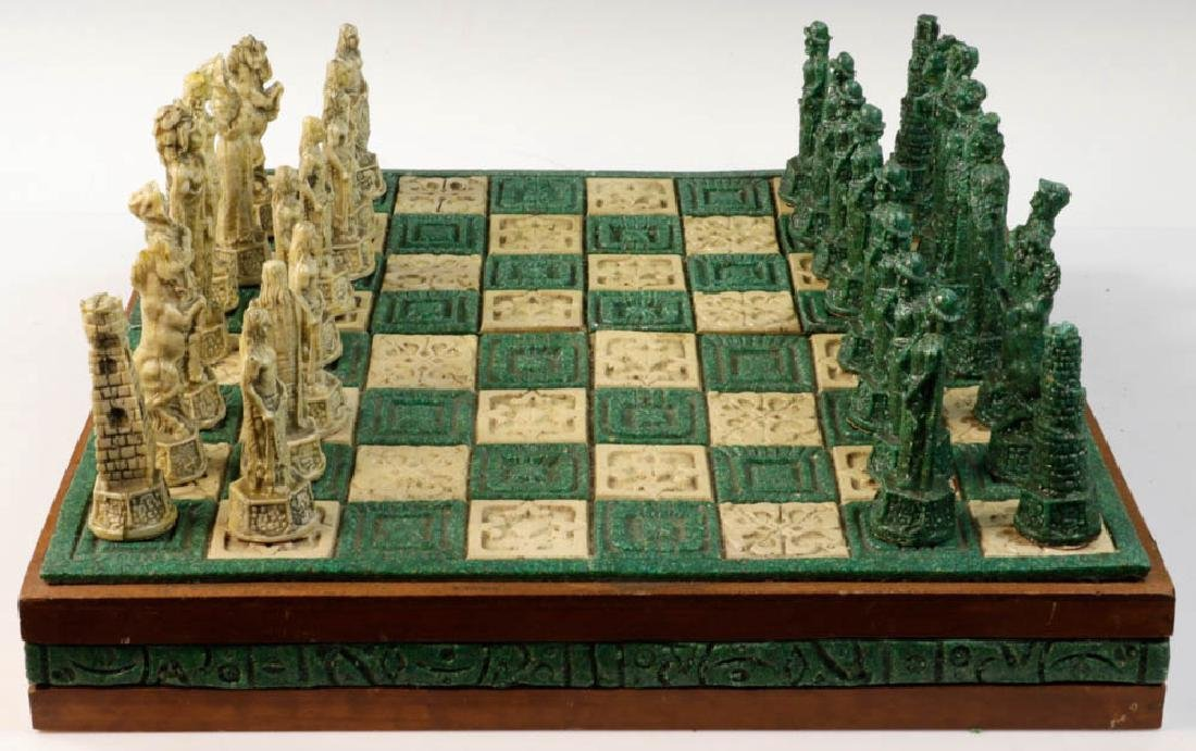 Composition Chess Set in Case