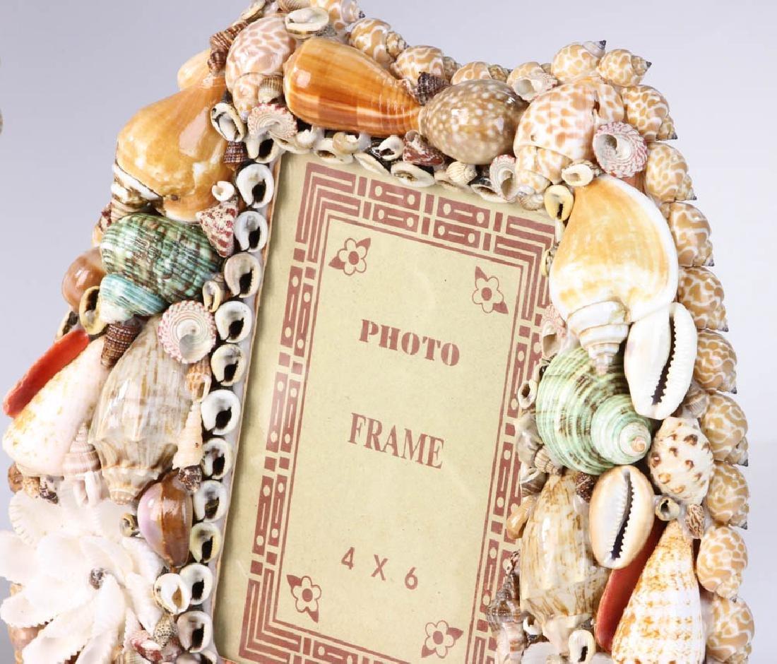 Three Designer Shell Art Frames - 5