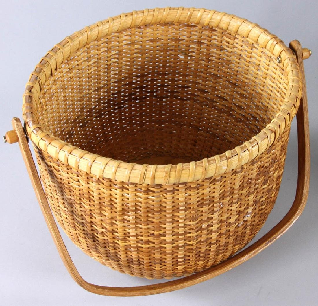 Nantucket Swing Handled Basket - 4