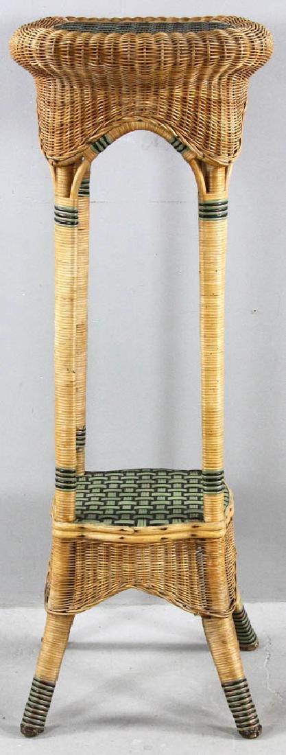 Tall Wicker Fern Stand - 2