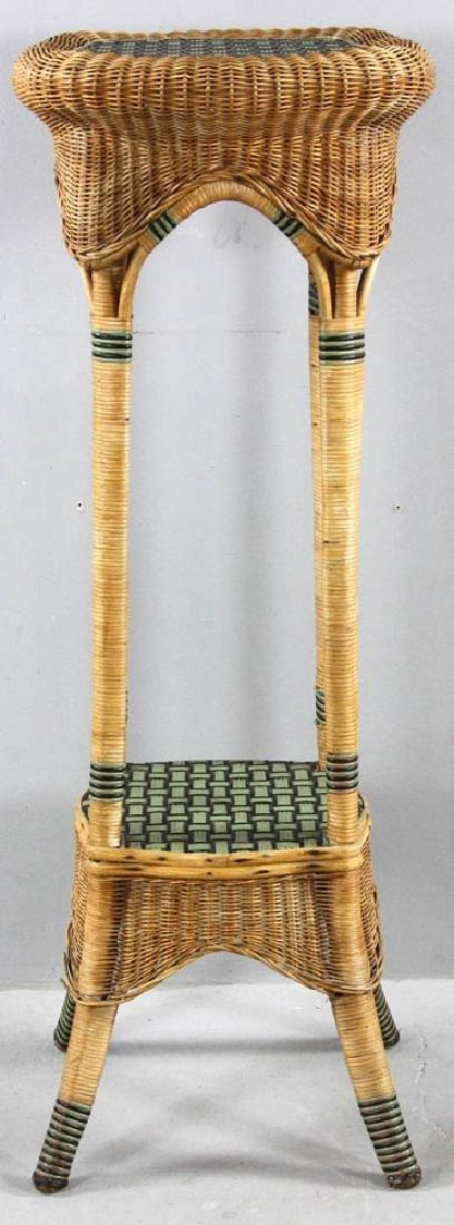 Tall Wicker Fern Stand - 4