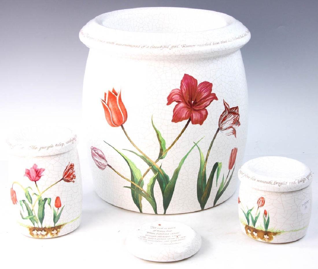 3-pc Pottery Set Marked Kohler