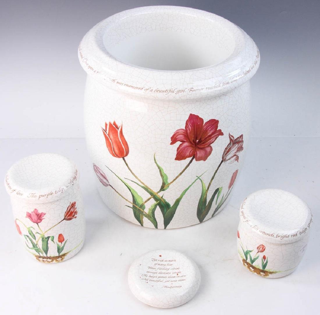 3-pc Pottery Set Marked Kohler - 2