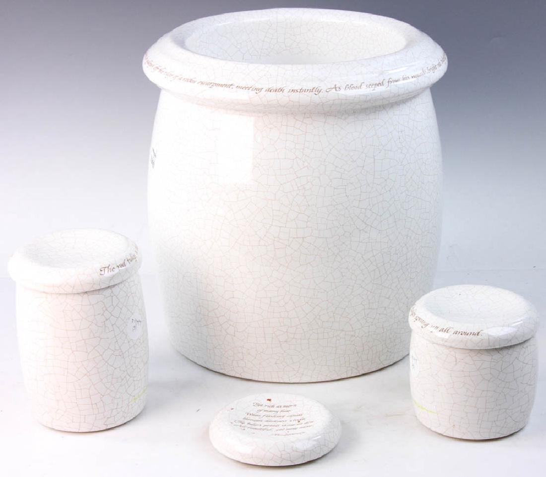 3-pc Pottery Set Marked Kohler - 8