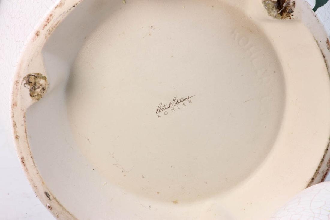 3-pc Pottery Set Marked Kohler - 9