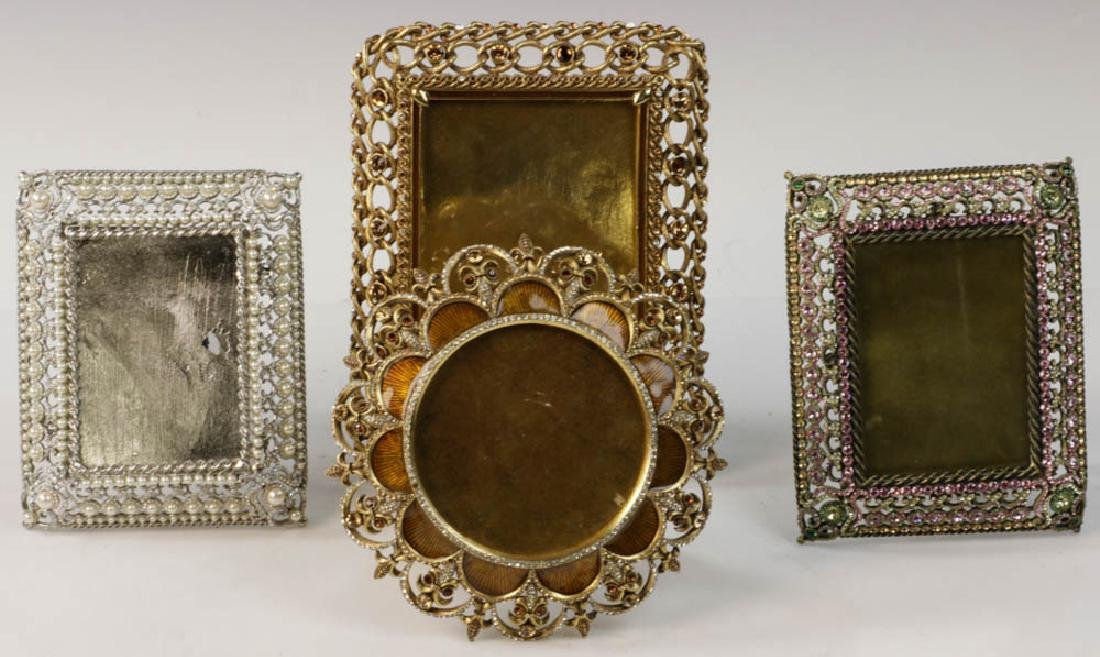 Four Jay Strongwater Picture Frames