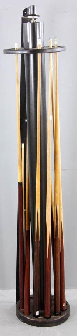 Wall Mounted  Revolving Pool Cue Rack