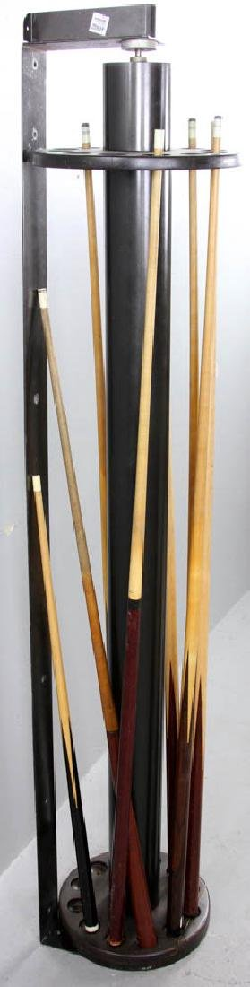 Wall Mounted  Revolving Pool Cue Rack - 3