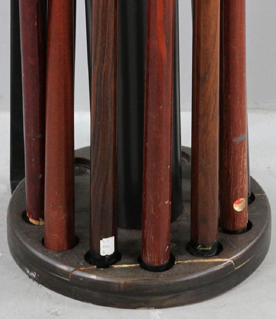 Wall Mounted  Revolving Pool Cue Rack - 5