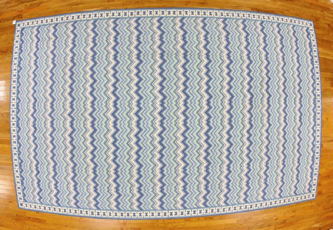 Designer Vermilion Hooked Rug