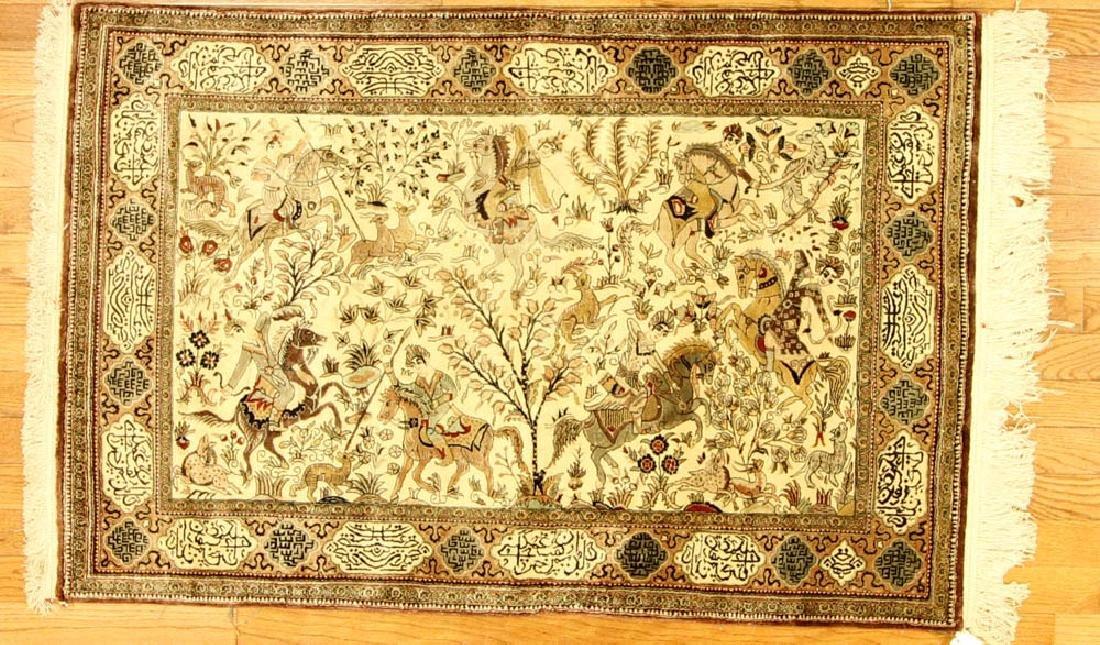Semi-antique Persian-style Tabriz Garden Rug