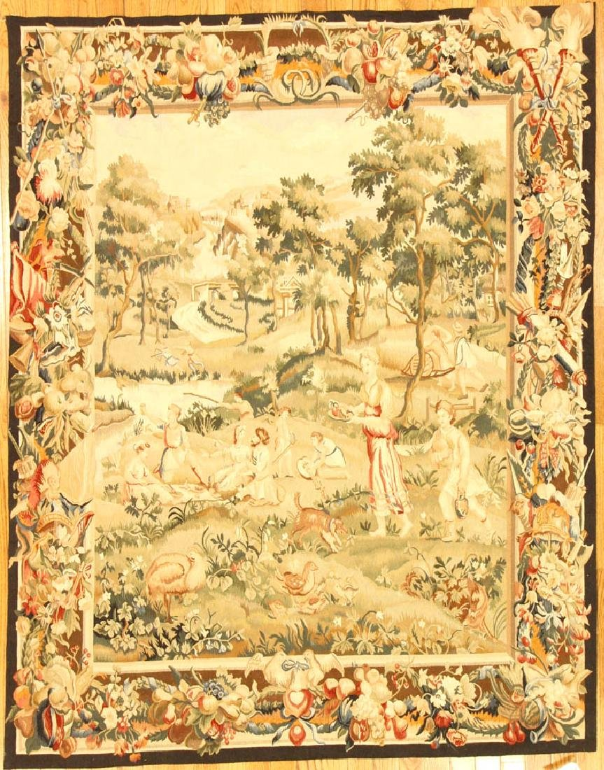 Fine Continental-style Needlepoint Tapestry