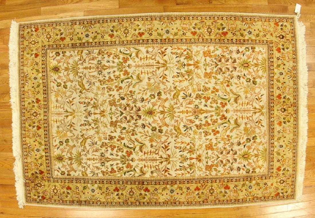 Semi-antique Tabriz Garden Rug