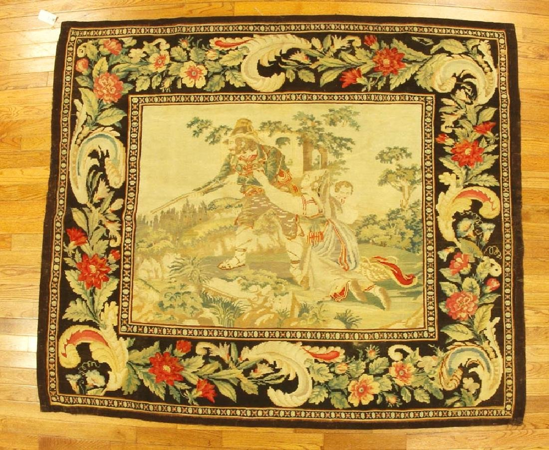 Antique Aubusson Needlepoint Tapestry