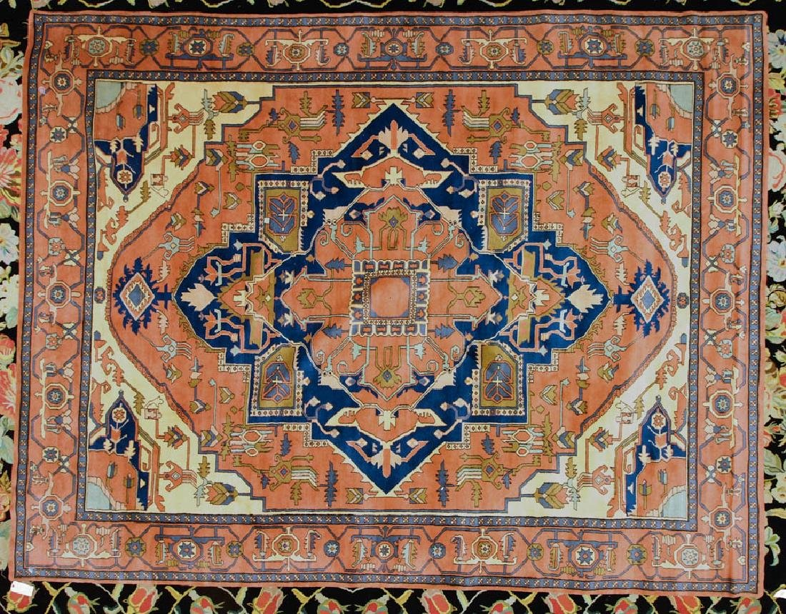 Exceptional Semi-antique Indo-Serapi Rug